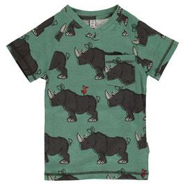 NEU: Nashorn-T-shirt mit V-Ausschnitt von Maxomorra