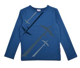 SALE: Flugzeug-Sweatshirt in Blau von Baba