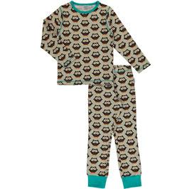 SALE: Eulen-Pyjama 2-teiler von Maxomorra