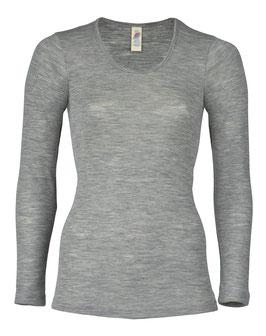 NEU: Wolle/Seide Langarm-Shirt für Damen in Grau Mélange von Engel Naturtextilien