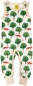 SALE: Playsuit mit Fuchs und Baum in Beige von DUNS