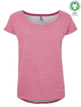 Einzelstück-SALE: Basic French Terry-Shirt in rosa von Tranquillo