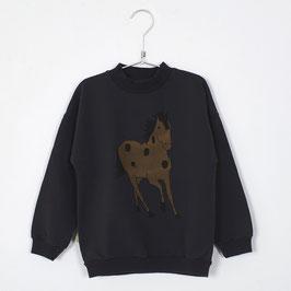 NEU: Sweatshirt mit Pferd auf Vintage Black von Lötiekids