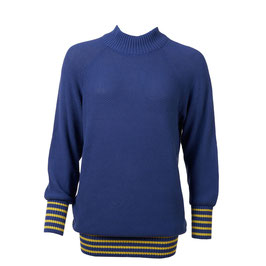 NEU: Pullover gestrickt in Meerblau mit Gelb von Froy&Dind