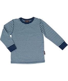 Shirt Dunkelblau/Hellblau gestreift von Maxomorra