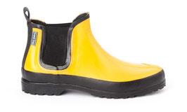 NEU: Gummistiefel Gelb/Schwarz aus Naturkautschuk von Grand Step Shoes