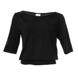 Damenshirt mit 1/2 Ärmeln in Schwarz
