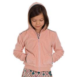 Kapuzenjacke soft velours in rosa von Froy&Dind