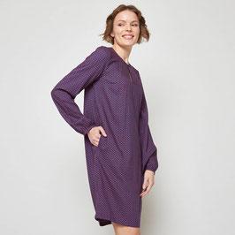 SALE: Oversize-Kleid gemustert auf Dunkelblau von Tranquillo