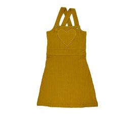 SALE: Salopette aus Cord  in Mustard mit Herzchen-Tasche von Baba