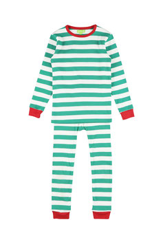 NEU: Pyjama gestreift Grün/Weiss von Lily Balou