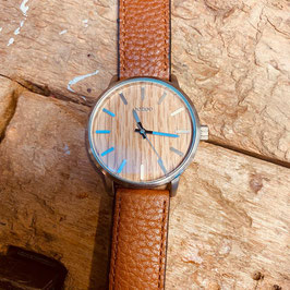 OOZOO Unisex-Armbanduhr Braun/Holzoptik Nr. 19