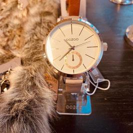 OOZOO  Damen-Armbanduhr Silber/Rosé Nr. 07