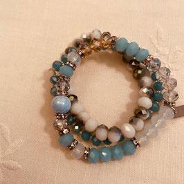 Nordish House Bracelet Blau/Silber/Weiss Nr. 08