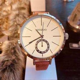OOZOO  Damen-Armbanduhr Silber/Weiss Nr. 08