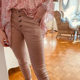 Lässige Jeans mit Strass in Rosé