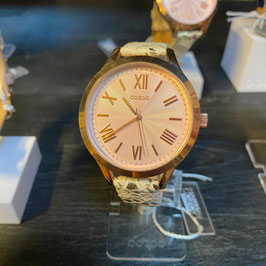 OOZOO Damen-Armbanduhr Gelb/Gold Nr. 03