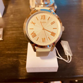 OOZOO Damen-Armbanduhr beige/Gold Nr. 13