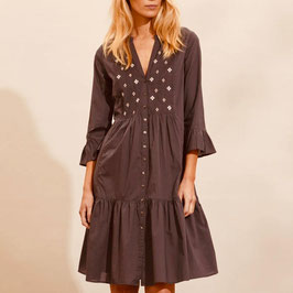 Odd Molly Kleid Kayla Dress Asphalt
