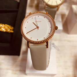 OOZOO Damen-Armbanduhr Gold/Weiss Nr. 11