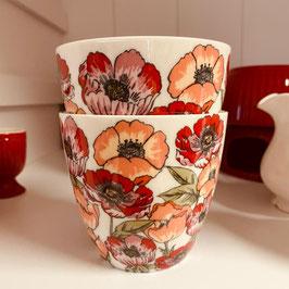 Greengate Latte Cup Aria white