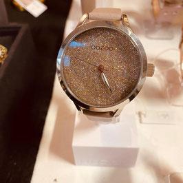 OOZOO Damen-Armbanduhr Taupe/Silber Nr. 12