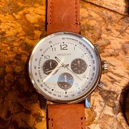 OOZOO Unisex Armbanduhr Silber Nr.16