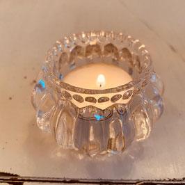 Teelicht Glas Schliff Perlenkranz Nr. 01