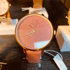 OOZOO Damen-Armbanduhr Altrosé Nr. 04