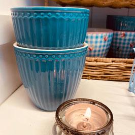 Greengate Alice Latte Cup ocean blue