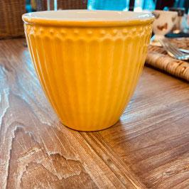 Greengate Latte Cup Alice honey mustard