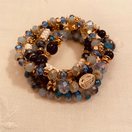 Nordish House Bracelet Gold/Blau Nr. 05