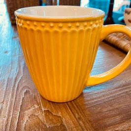 Greengate Mug Alice honey mustard