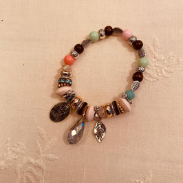 Nordish House Bracelet farbige Steine/silber Nr. 09