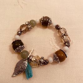 Nordish House Bracelet mit Blatt und Quaste Nr. 06