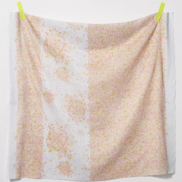 Nani Iro Fuwari Fuwari Pink Yellow on Natural - Collection 2021