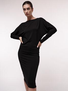 Fledermauskleid - schwarz