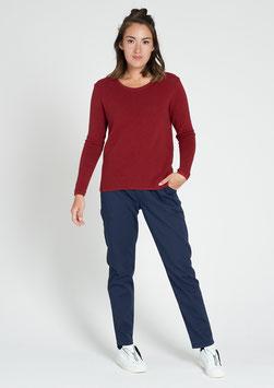 Pullover Rib weinrot