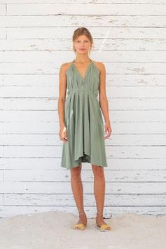 Multiposition Dress Baumwolle/Leinen short - grey mist