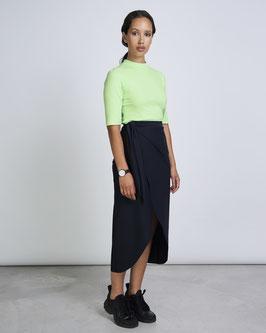 Midi Skirt FRANCESCA neoprene black