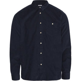 Babycord-Hemd dunkelblau