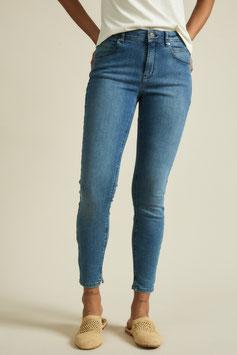 High-Waist-Jeans - blue denim