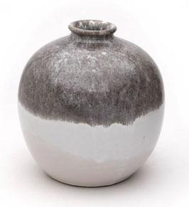 Vase groß steingrau dipped