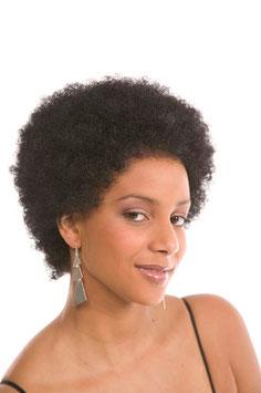 Wig Afro Medium : 1 Kunstahaar Perücke, Schwarz