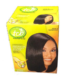 TCB No Lye Olive Oil Relaxer Kit - Coarse