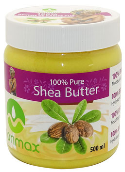 100% PURE SHEA BUTTER MOISTURIZING CREAM 500ML