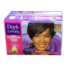 Dark and Lovely  MOISTURE PLUS No-lye Relaxer kit, Super