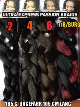Ultra Expression Braids-100% Kanekalon in verschiedene Farben, 165g