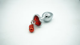 Butt Plug ,,red heart with bells''
