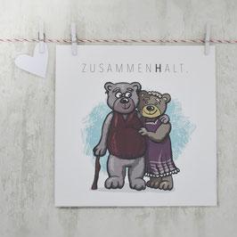 """""""ZUSAMMEN(H)ALT"""" Postkarte"""